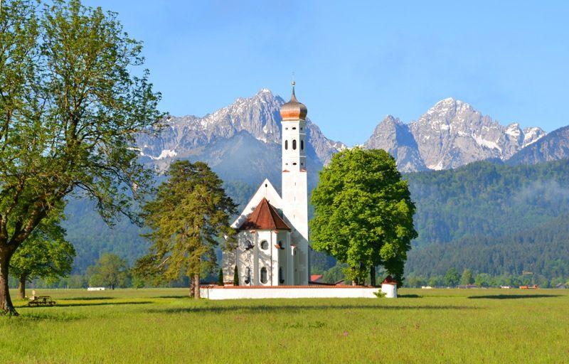 Colomanskirche bei Schwangau in Bayern