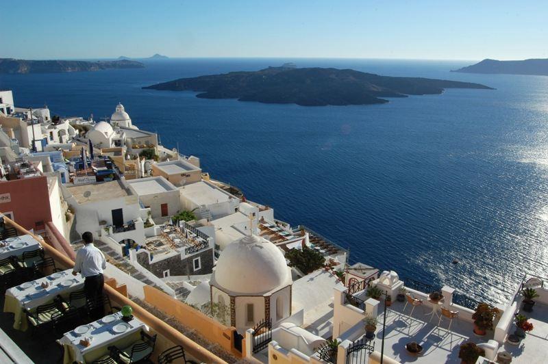 Santorin-Insel in Griechenland
