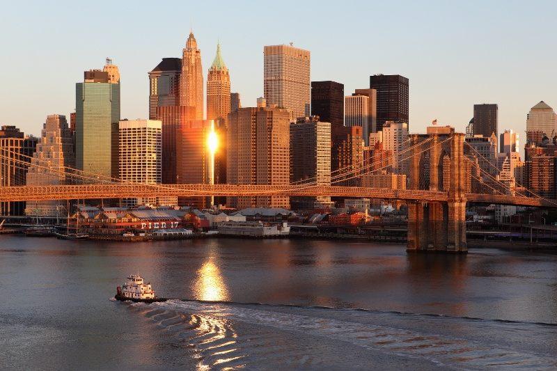New York im Sonnenaufgang